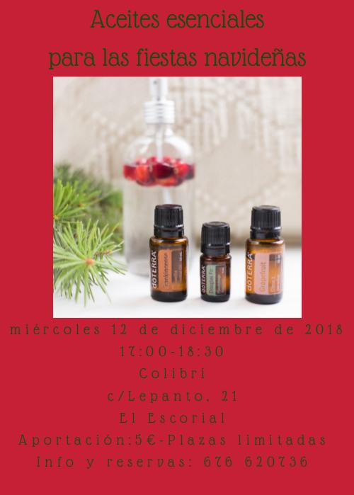 taller de aceites esenciales especial navidad colibrí